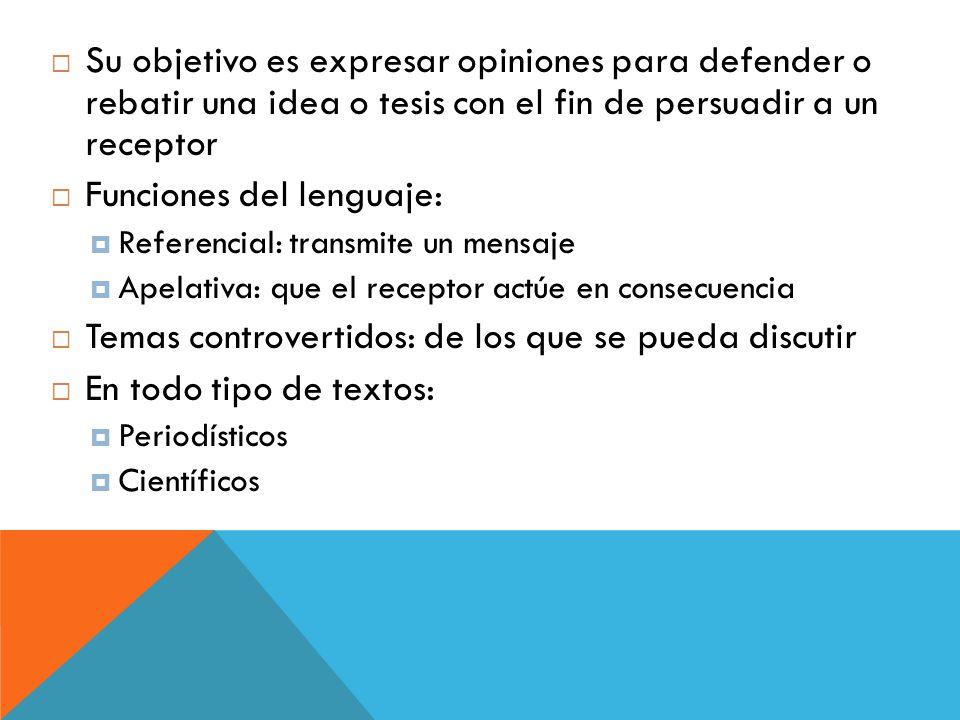 Funciones del lenguaje: