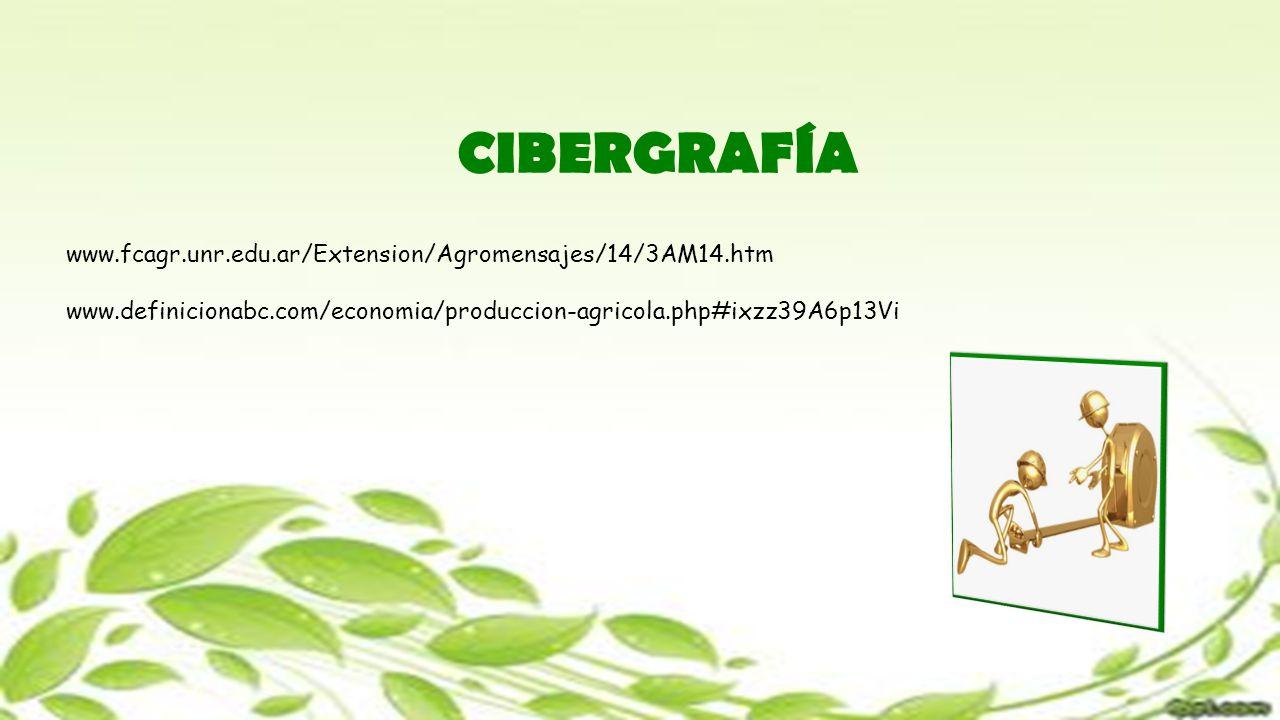 CIBERGRAFÍA www.fcagr.unr.edu.ar/Extension/Agromensajes/14/3AM14.htm