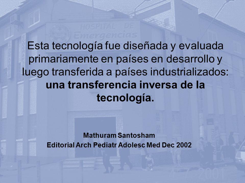Mathuram Santosham Editorial Arch Pediatr Adolesc Med Dec 2002