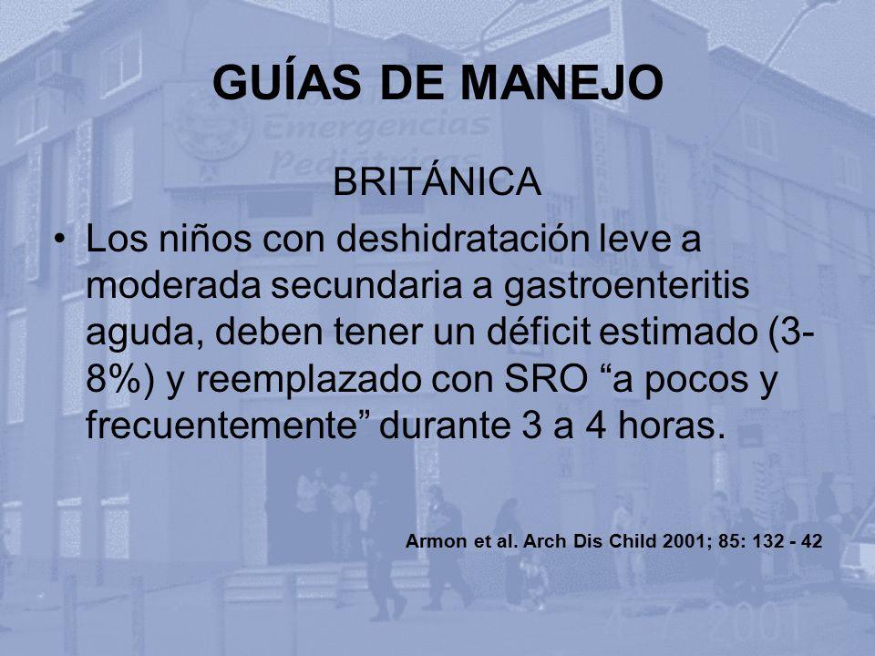 GUÍAS DE MANEJO BRITÁNICA