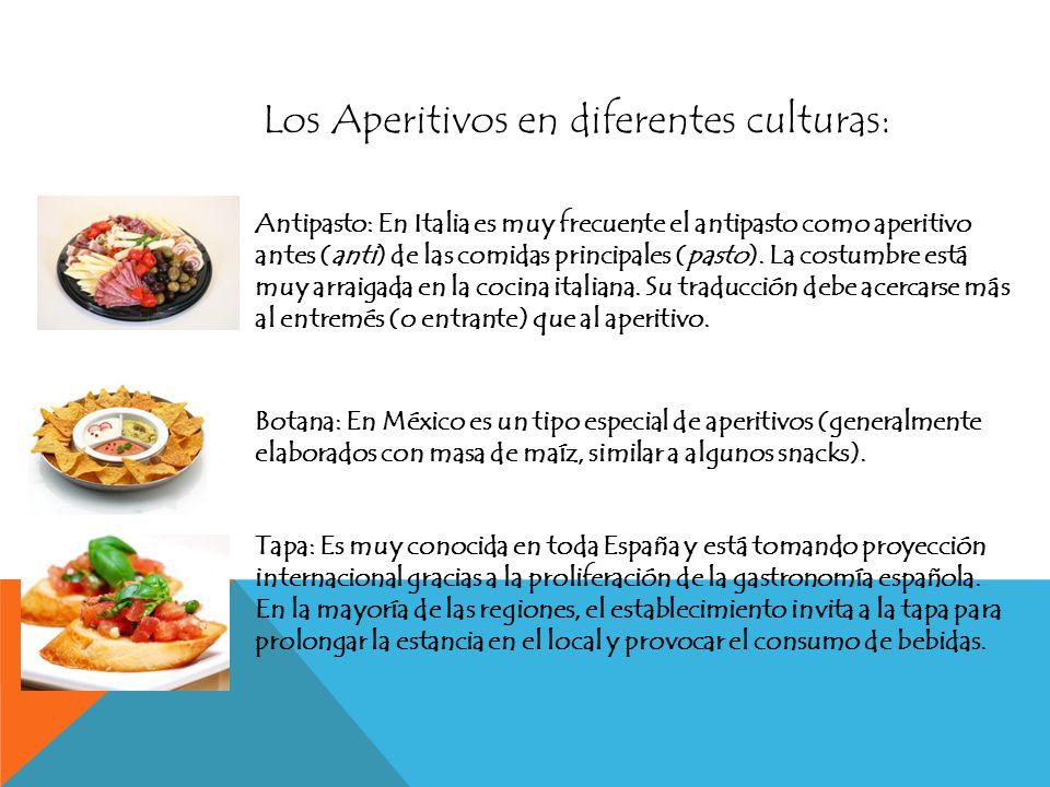 Los Aperitivos en diferentes culturas: