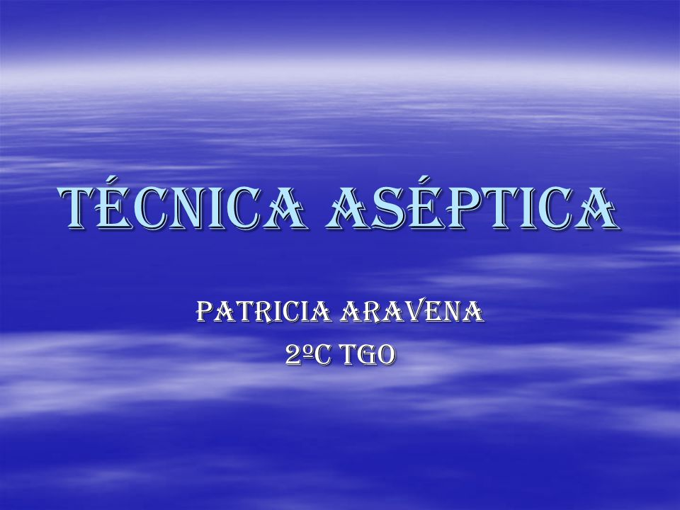 Patricia aravena 2ºc tgo