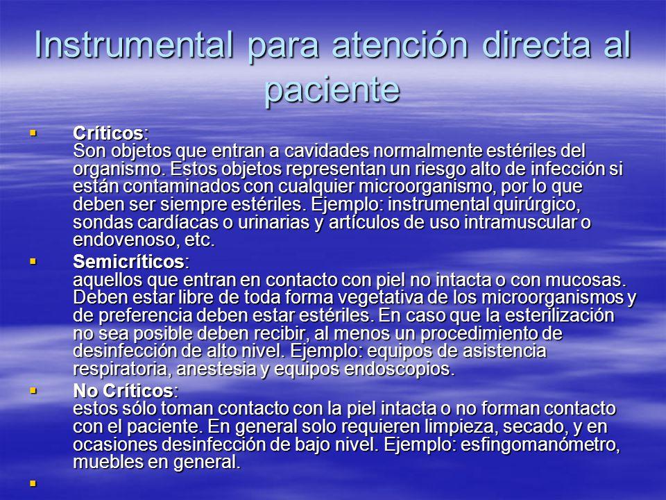 Instrumental para atención directa al paciente