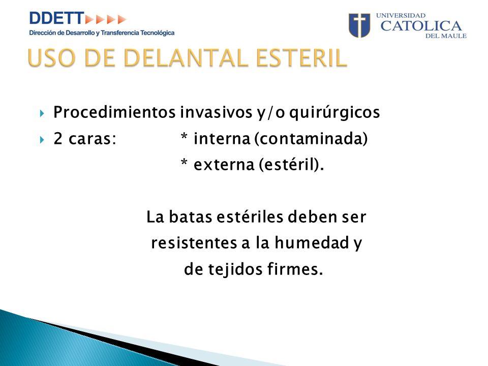 USO DE DELANTAL ESTERIL