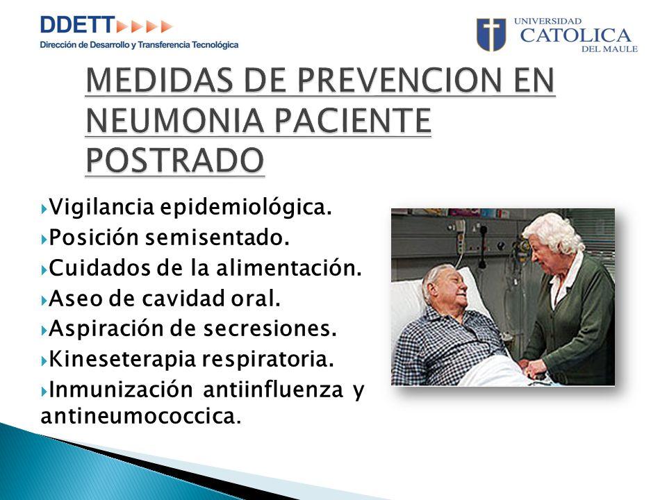 MEDIDAS DE PREVENCION EN NEUMONIA PACIENTE POSTRADO