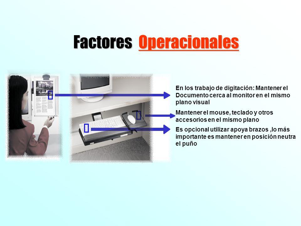 Factores Operacionales