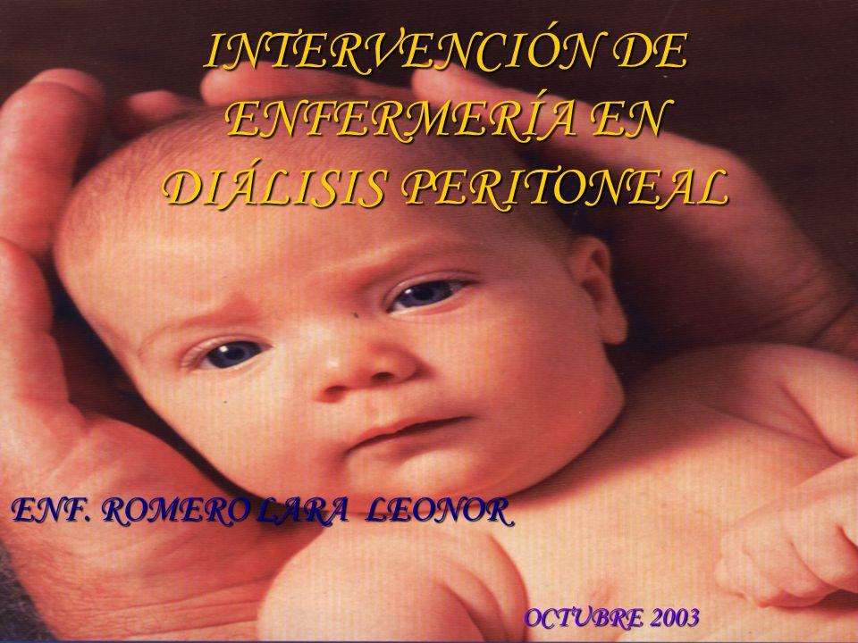 INTERVENCIÓN DE ENFERMERÍA EN DIÁLISIS PERITONEAL