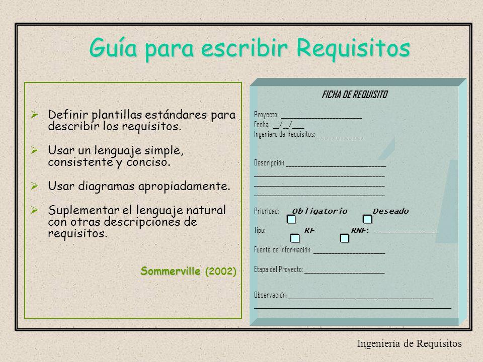 INGENIERIA DE REQUISITOS. - ppt descargar