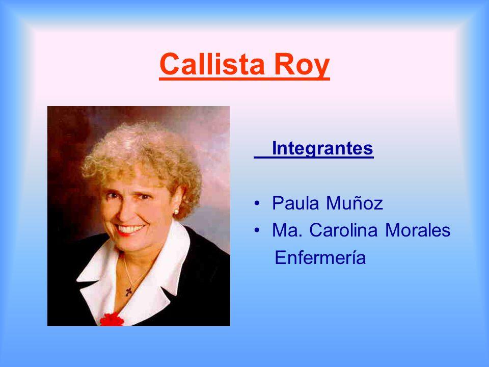 callista roy 1 Sister callista roy phd, rn, faan background sister callista roy rn, phd, is a nurse theorist, college professor, researcher, writer, and lecturer.
