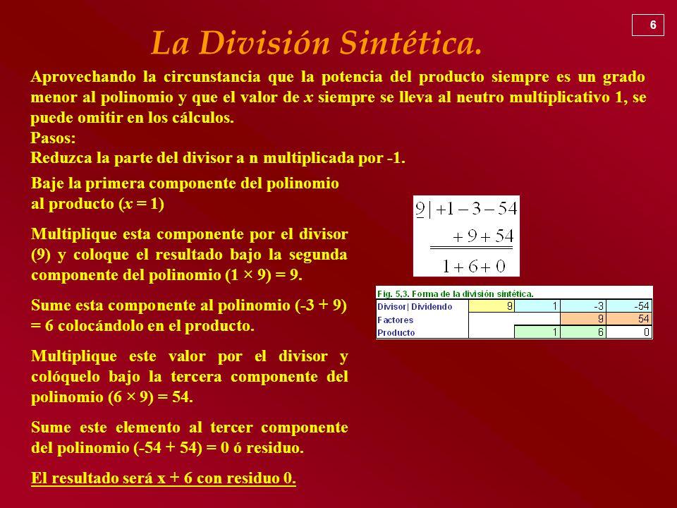 Único División Sintética De Polinomios Hoja De Cálculo Motivo ...