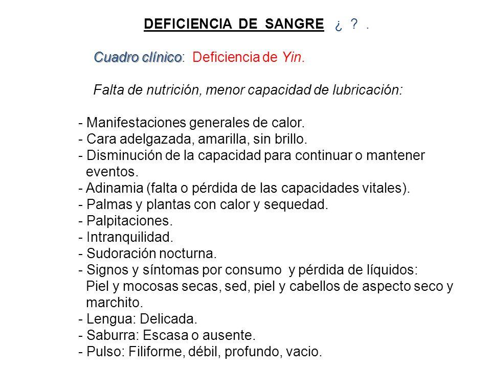 DEFICIENCIA DE SANGRE ¿ .
