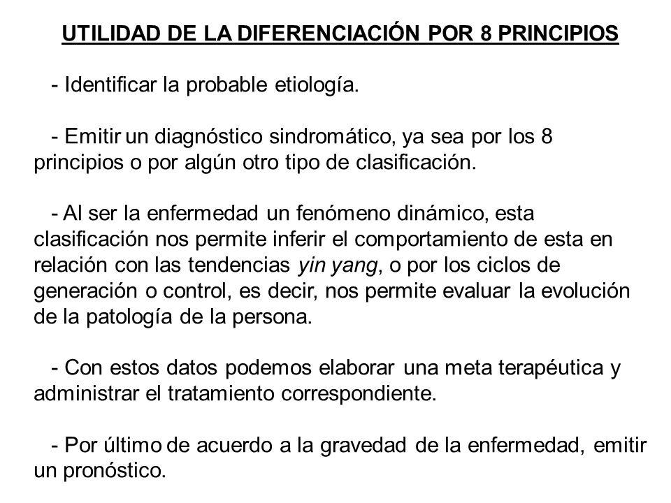 UTILIDAD DE LA DIFERENCIACIÓN POR 8 PRINCIPIOS
