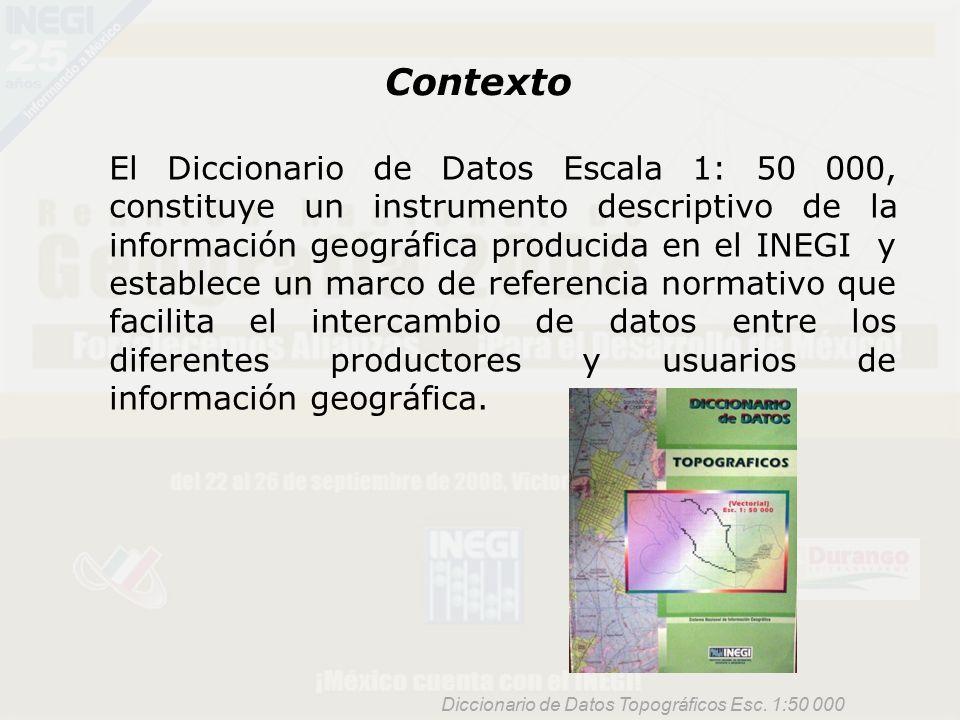 Aspectos Técnicos del Diccionario de Datos Topográficos Escala - ppt ...