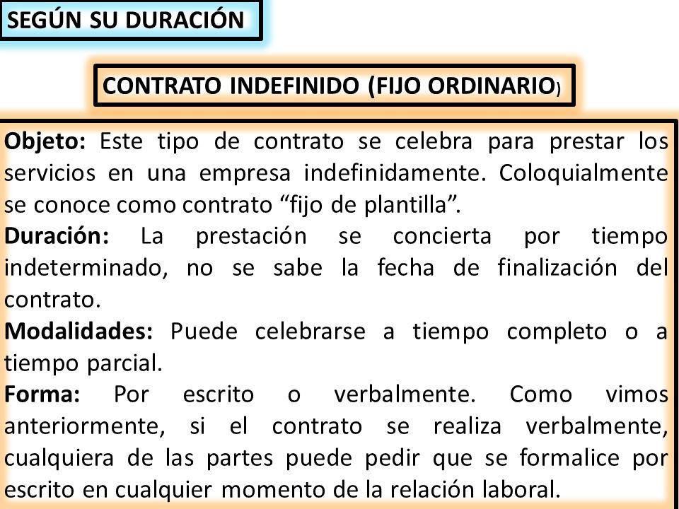 El contrato de trabajo ppt descargar for Plantilla de contrato indefinido
