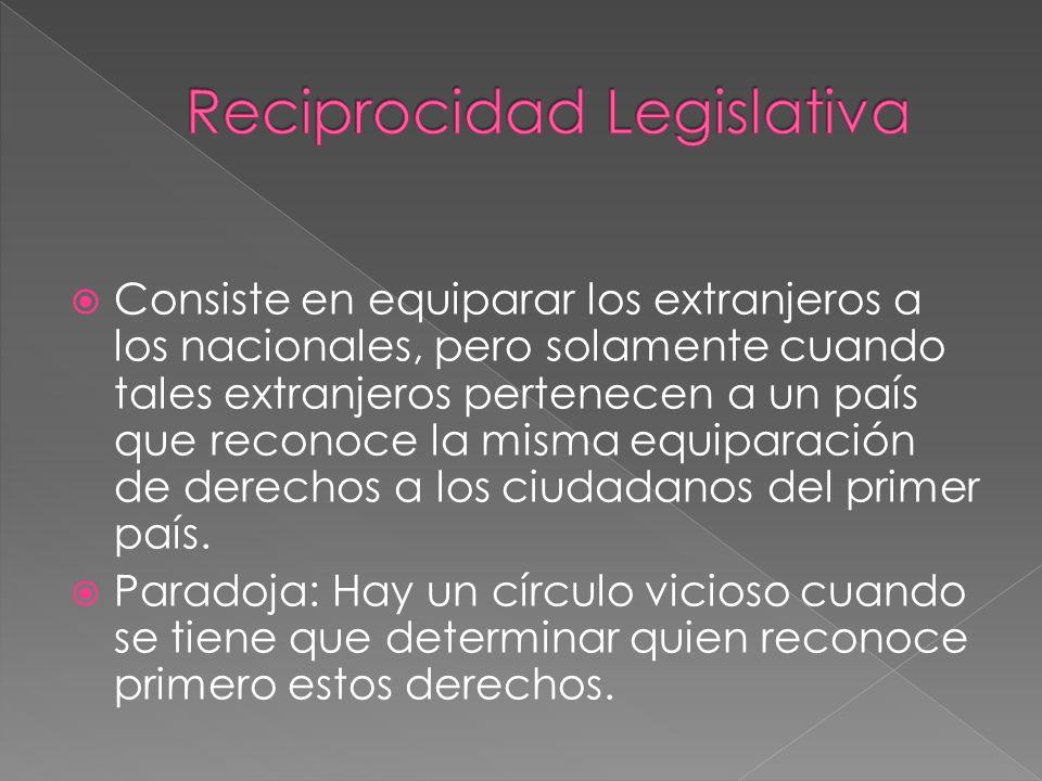 Reciprocidad Legislativa