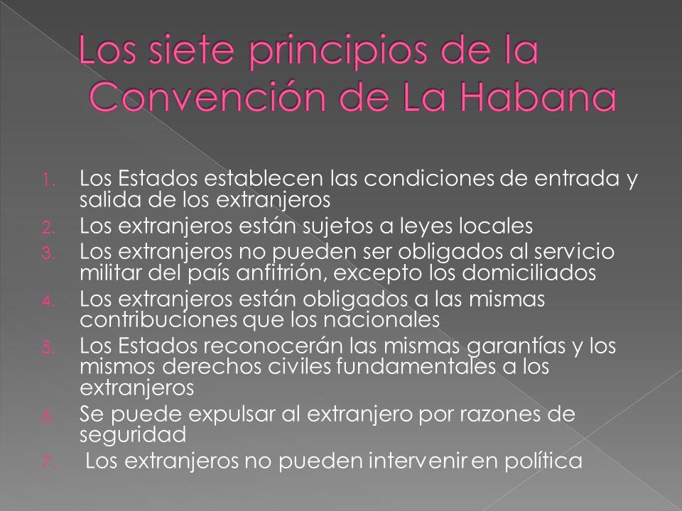 Los siete principios de la Convención de La Habana