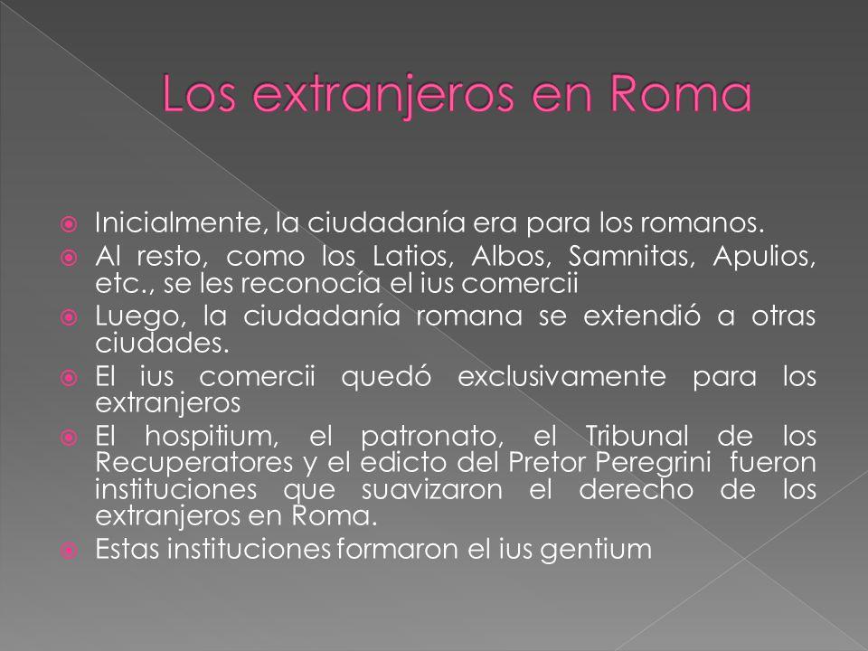 Los extranjeros en Roma