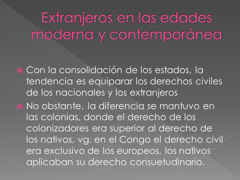 Extranjeros en las edades moderna y contemporánea