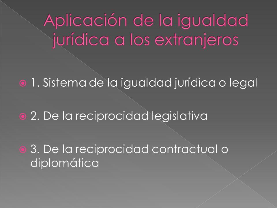 Aplicación de la igualdad jurídica a los extranjeros