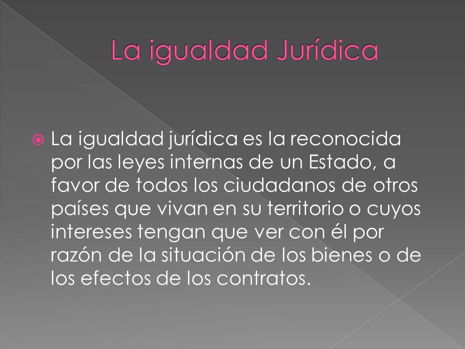 La igualdad Jurídica