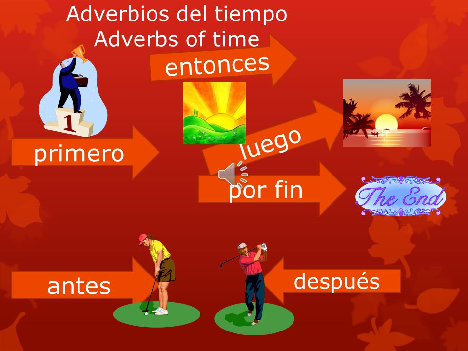 Adverbios del tiempo Adverbs of time