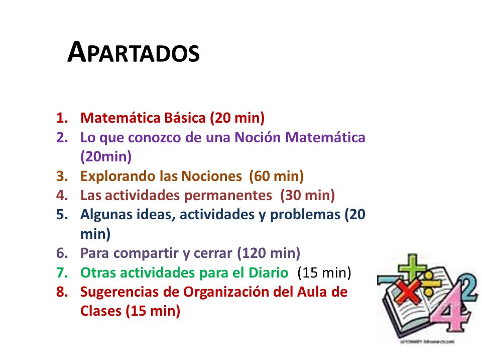 Apartados Matemática Básica (20 min)