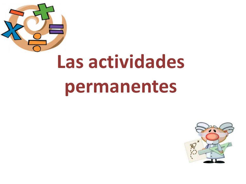 Las actividades permanentes