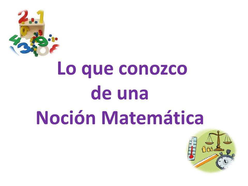 Lo que conozco de una Noción Matemática