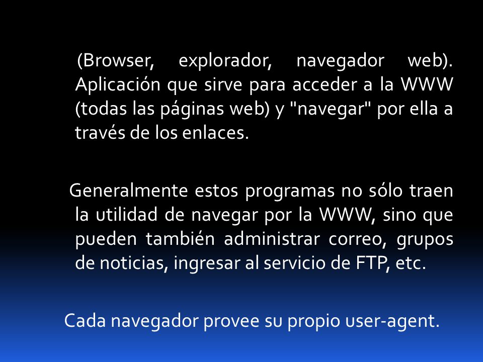 (Browser, explorador, navegador web)