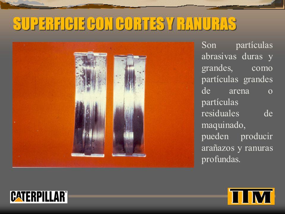 SUPERFICIE CON CORTES Y RANURAS