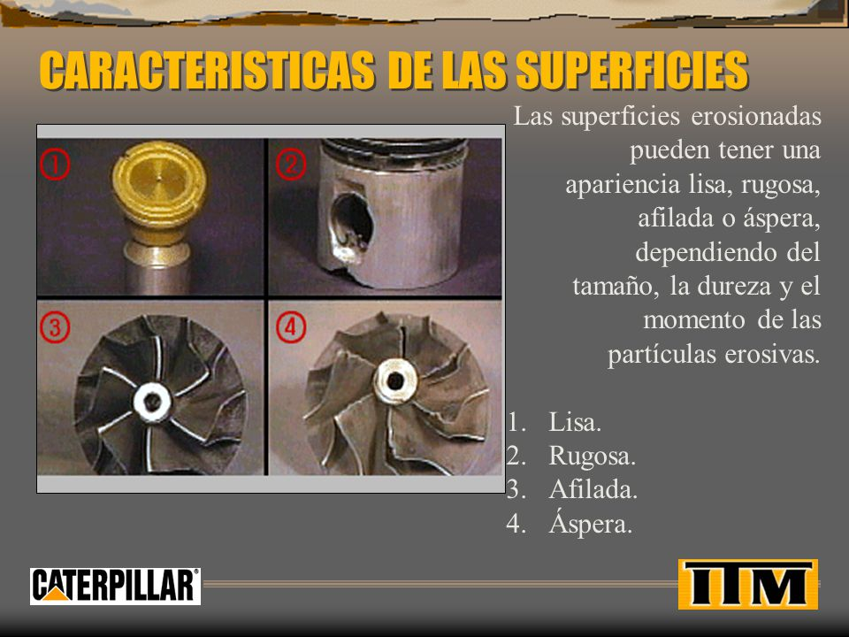 CARACTERISTICAS DE LAS SUPERFICIES