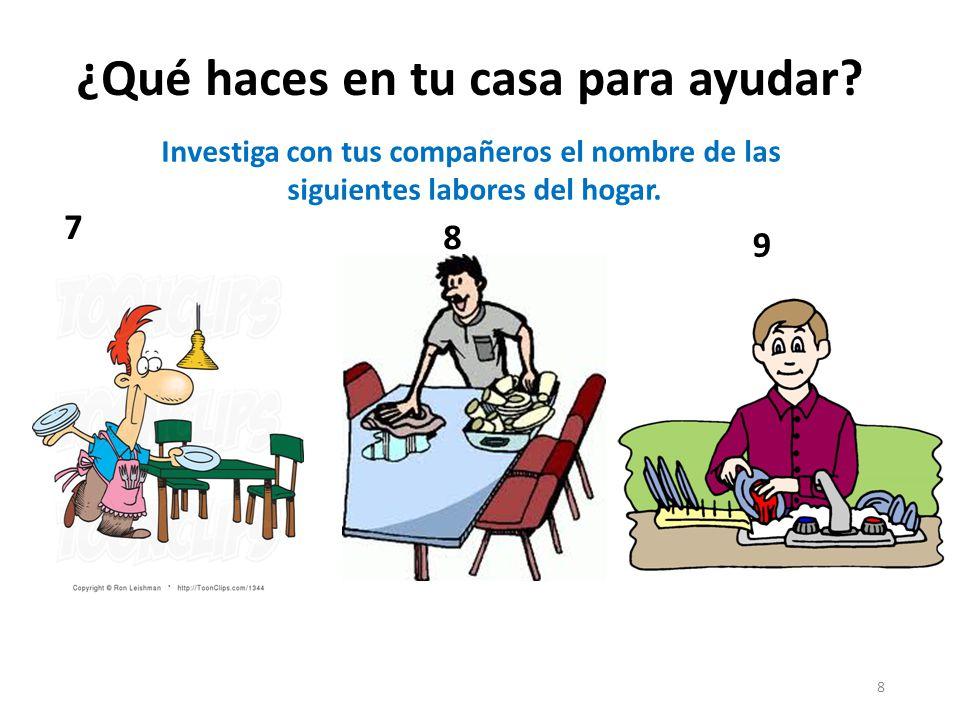 ¿Qué haces en tu casa para ayudar