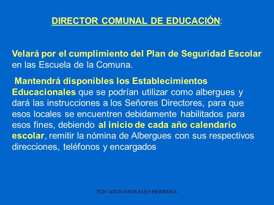 DIRECTOR COMUNAL DE EDUCACIÓN: