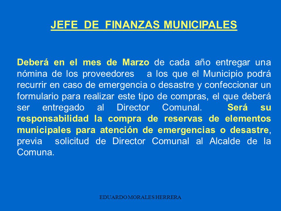 JEFE DE FINANZAS MUNICIPALES