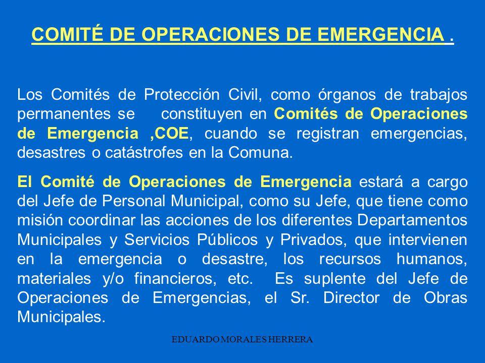 COMITÉ DE OPERACIONES DE EMERGENCIA .