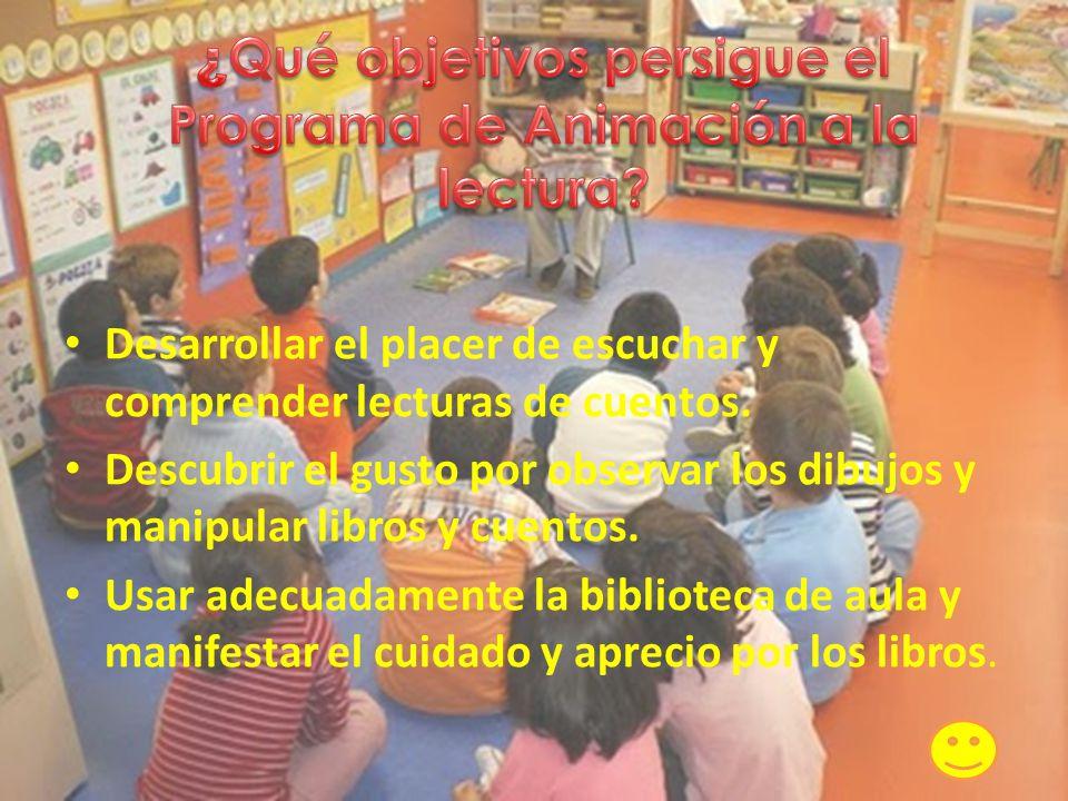 ¿Qué objetivos persigue el Programa de Animación a la lectura