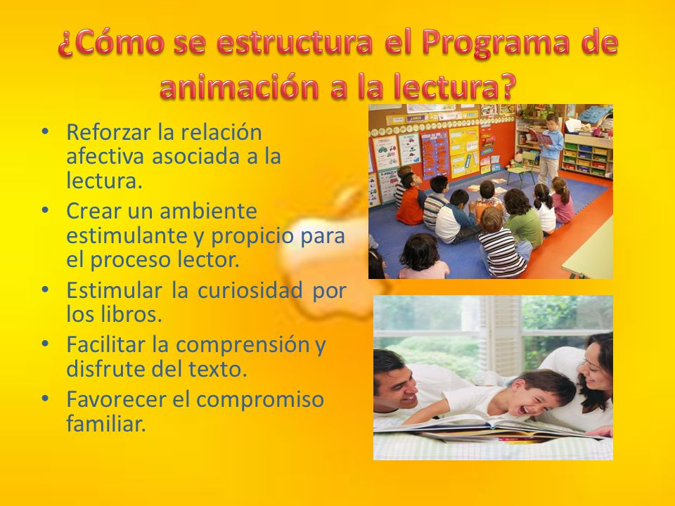 ¿Cómo se estructura el Programa de animación a la lectura