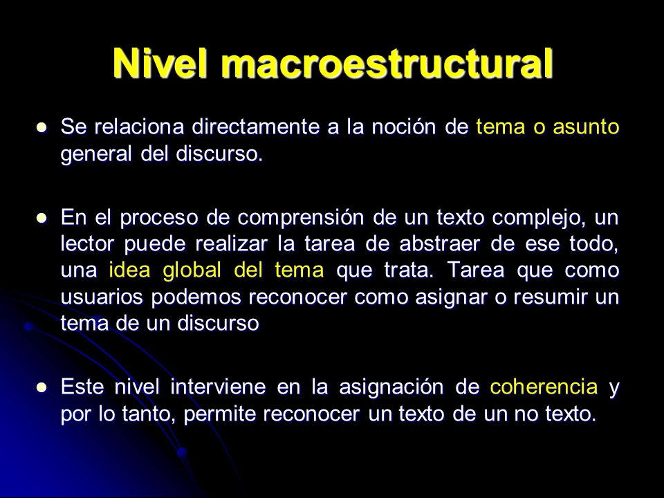 Nivel macroestructural