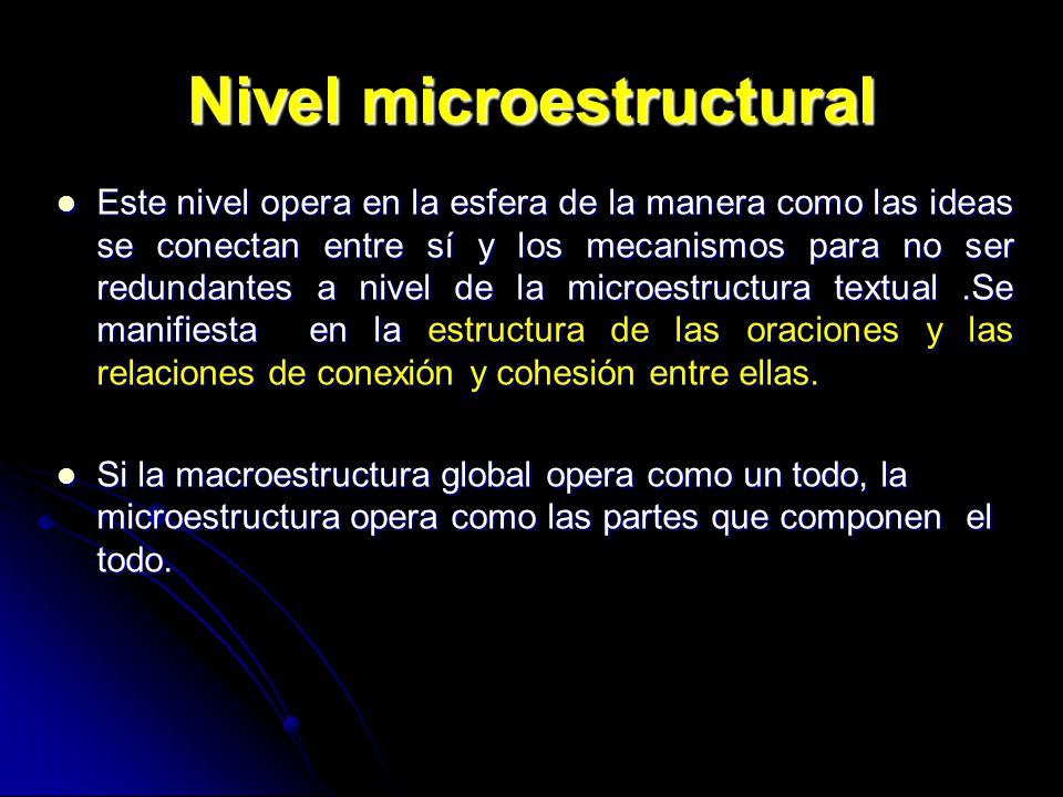 Nivel microestructural