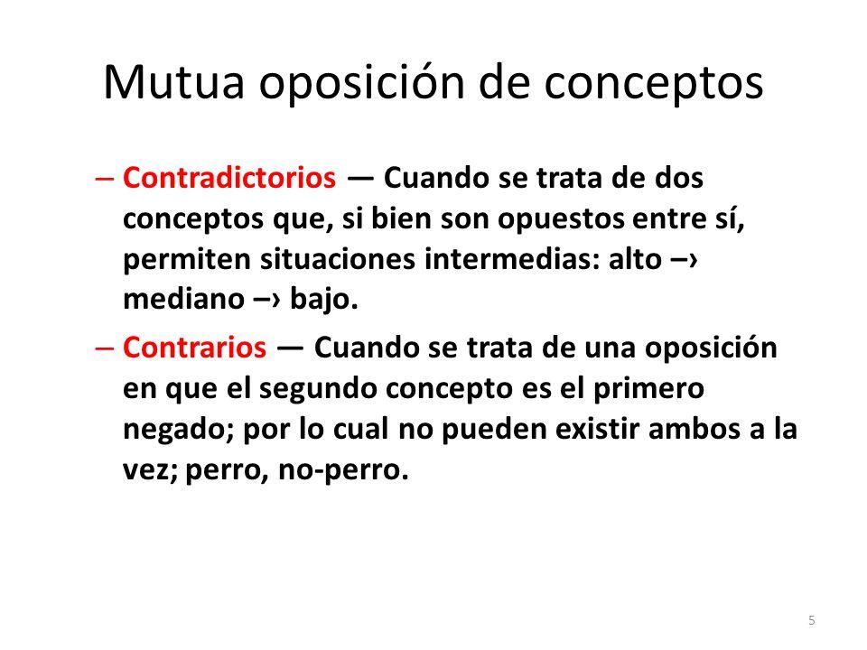 Mutua oposición de conceptos