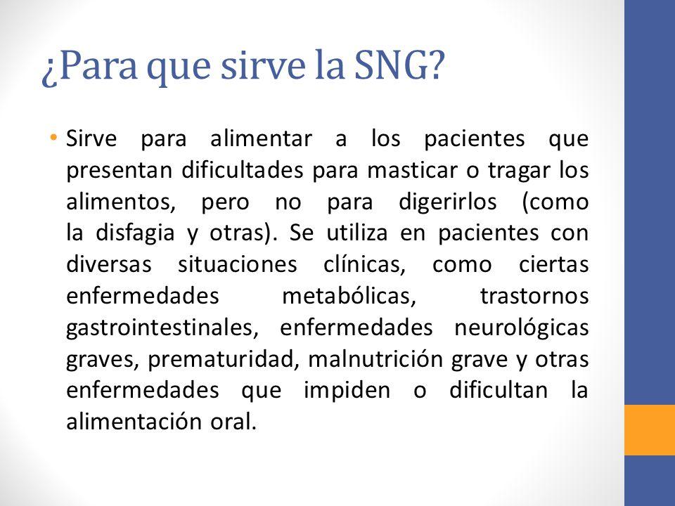 ¿Para que sirve la SNG