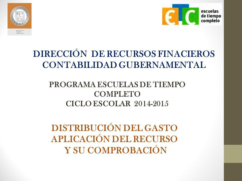 DIRECCIÓN DE RECURSOS FINACIEROS CONTABILIDAD GUBERNAMENTAL