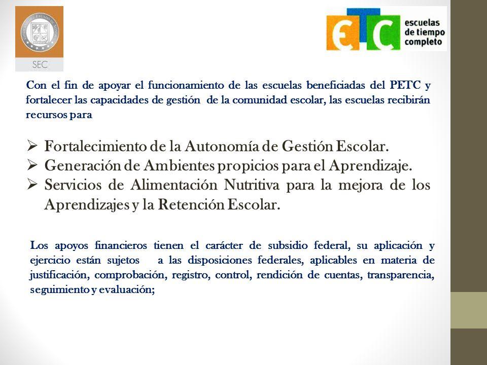 Fortalecimiento de la Autonomía de Gestión Escolar.