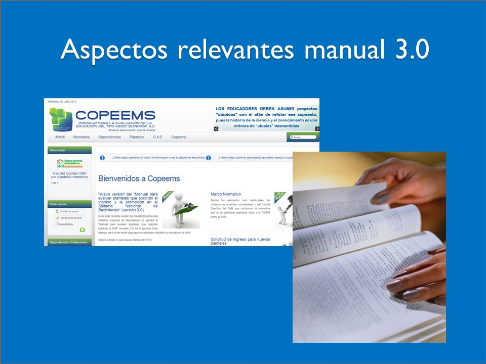 Aspectos relevantes manual 3.0