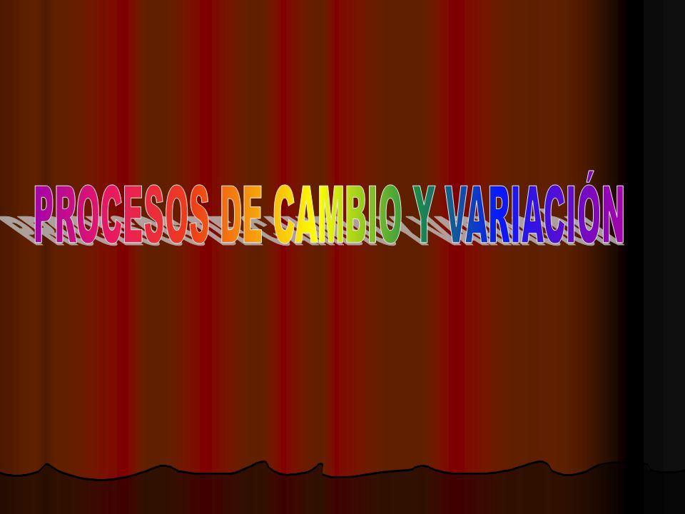 PROCESOS DE CAMBIO Y VARIACIÓN