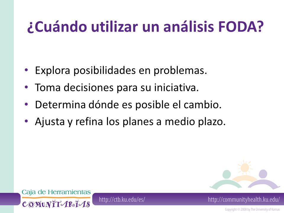 ¿Cuándo utilizar un análisis FODA