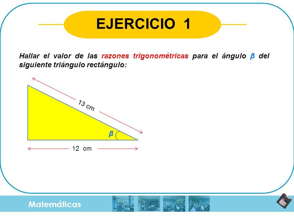 EJERCICIO 1 Matemáticas