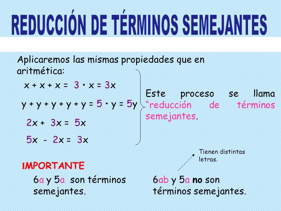 REDUCCIÓN DE TÉRMINOS SEMEJANTES