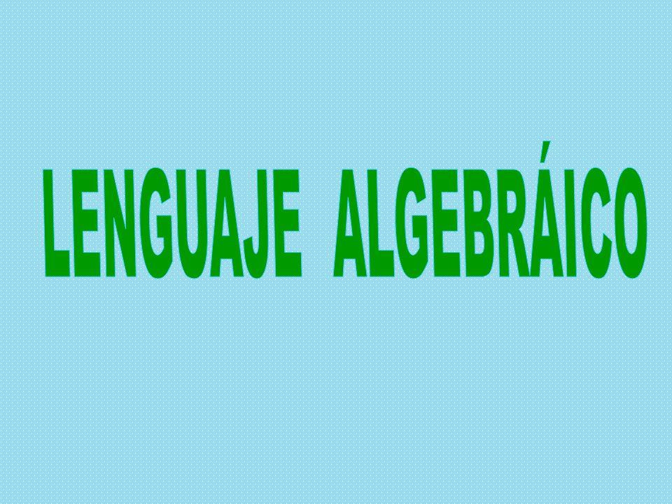 LENGUAJE ALGEBRÁICO El lenguaje algebraico está compuesto por cinco puntos: el lenguaje algebraico.