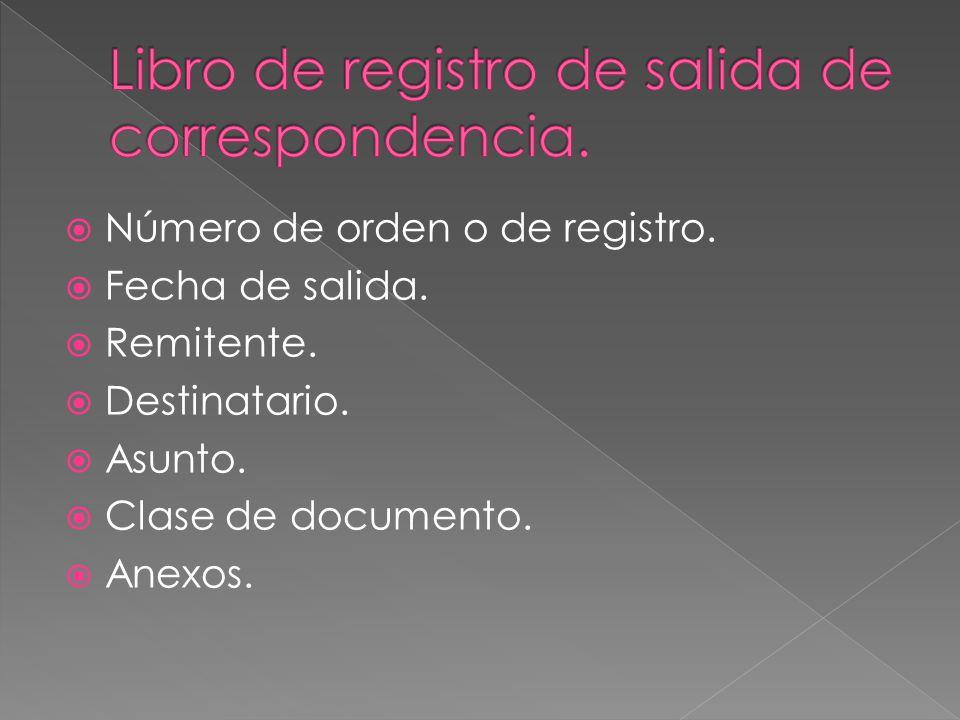 Tema 8 gesti n de la correspondencia ppt descargar for Salida de envio de oficina de cambio de destino